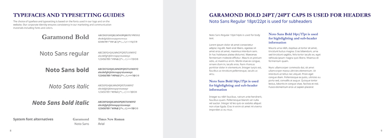 UMS Group typografie styleguide