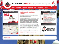 Stadsdag Utrecht website